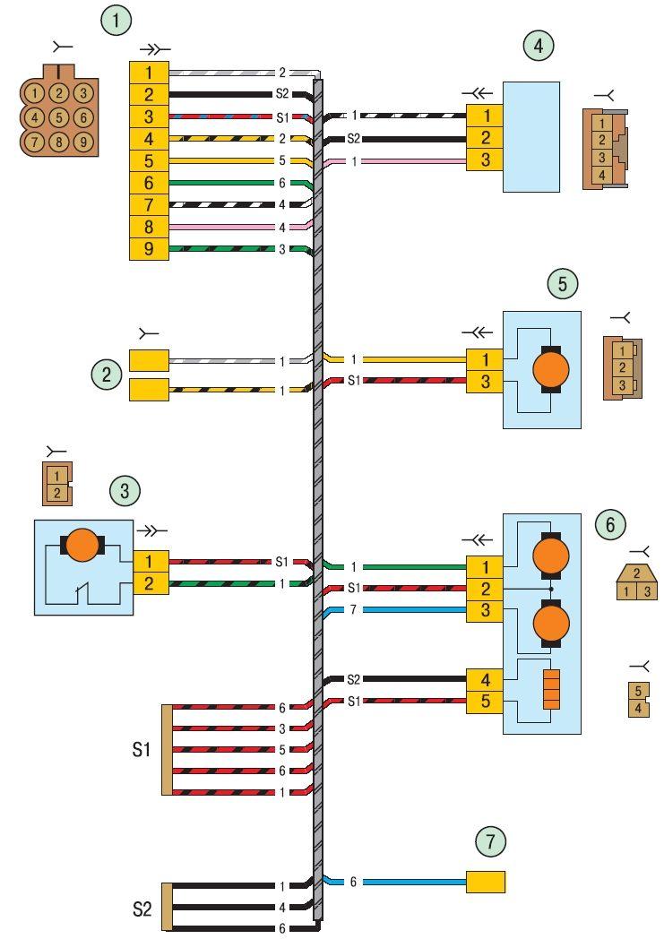 1 - колодка жгута проводов