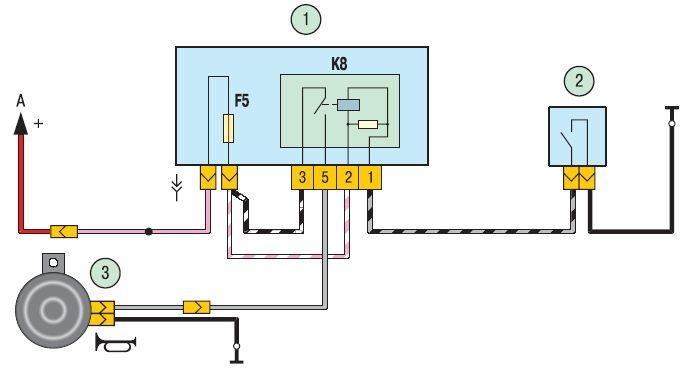 электросхема биикалки - звукового сигнала